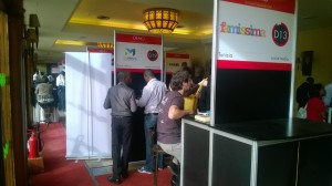 Our stand at DemoAfrica amidst the others